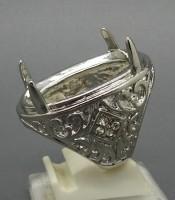 Model Cincin Rodium Silver Cantik Untuk Batu Mustika