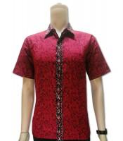 Grosir Kemeja Batik Merah Murah