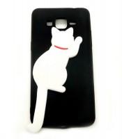 Grosir Black Silicone Case Cat Samsung J2 Prime Murah