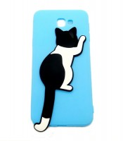 Grosir Blue Silicone Case Cat Samsung J5 Prime Murah