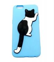 Grosir Blue Silicone Case Cat iPhone 6 Murah