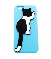 Grosir Blue Silicone Case Oppo A57 Kucing Hitam Putih Murah