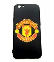 Grosir Oppo A59 Logo Manchester United Silicon Black Matte Murah