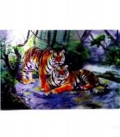Grosir Poster Dinding 3D Harimau