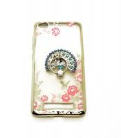 Grosir Soft Case Shining Flower Ring Redmi 4a Bulu Merak Murah