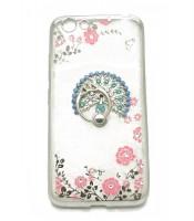 Grosir Soft Case Shining Flower Vivo Y53 Plus Ring Burung Merak Murah
