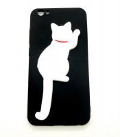 Grosir Vivo V5 Black Silicone Case Cat Murah