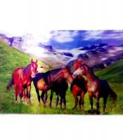 Grosir Poster Dinding 3D Kuda Pegunungan