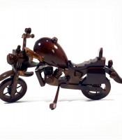 Jual Kerajinan Kayu Jati Miniatur Motor Harley